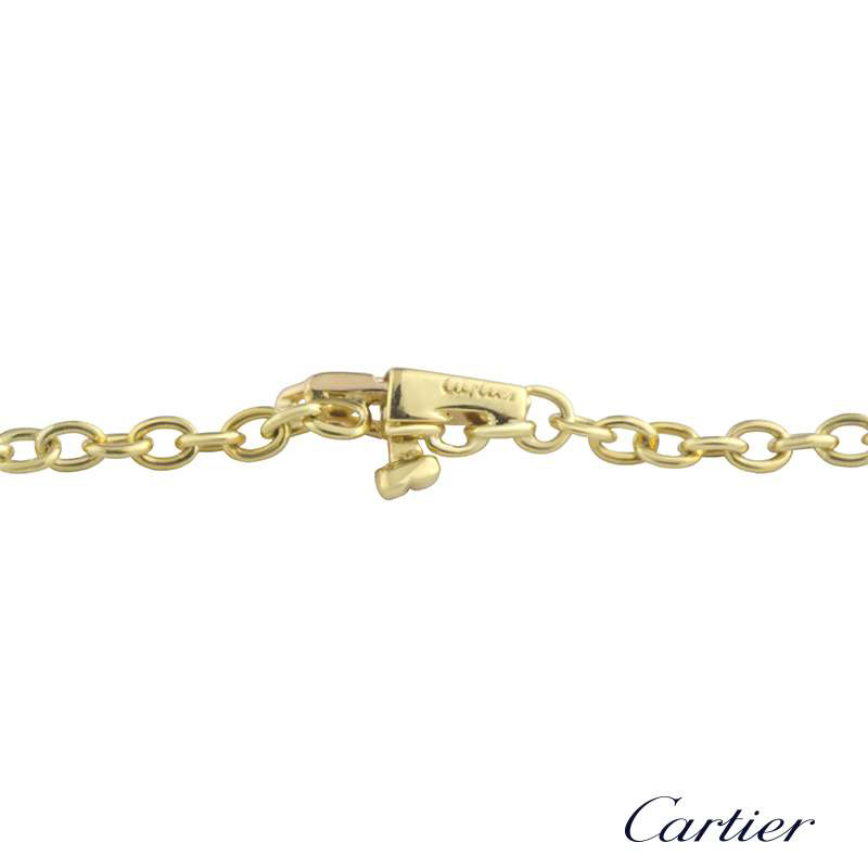 Cartier 18k Yellow Gold Diamond Set Swirl Pendant